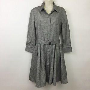 Theory Jalyis pleated linen shirt dress